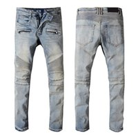 Moda para hombre Jeans Pantalones de mezclilla de alta calidad Pantalones largos de algodón Hombre Hombre famoso Jean clásico Tamaño 28-40