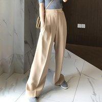 Kadın pantolon capris [menkay] kadınlar için pantolon yüksek bel nedensel gevşek geniş bacak kadın 2021 sonbahar Kore moda zarif gelgit