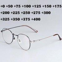 Sunglasses Fashion Classic Retro Oval Reading Glasses Unisex Clear Metal Magnifying Hyperopia Presbyopic +125 175 225 275 Bronze