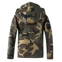 Mens Camouflage Outdoor Jackets Fashion Trend Long Sleeve Button Zipper Hooded Coats Designer Male Winter Casual Skinny Pullover Outerwears