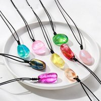 Natural Bianco Crystal Electroplated Leclished Arts Pendente in pietra ruvida Reiki Healing Chakra Gemstone Colorato multi-forma Energia DWDD8317