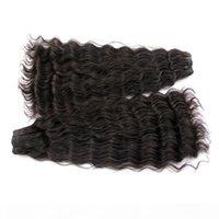 "Clearance super double drawn natural deep wave brazilian virgin human hair bundles 2packs lot unprocessed natural color 18"" available"