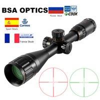 BSA Optics 4-16x44 ST Vue d'optique tactique Vert Vert Riflescope Éclairage Rifle de chasse Chasse Scope Sniper Airsoft Air pistolets