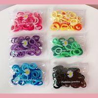 50pcs Colorful Nylon Rubber Rope Small Elastic Hair Bands Ch...