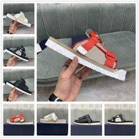 Strap de hebilla oblicua Zapatos casuales Slipper clásico Respirar libremente blanco Bordado rojo Bordado superior EVA TPR Sole Tamaño extraíble 38-44 #