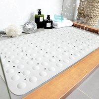 Musthome 40 * 70cmanti-slip Mat de baño antibacteriano de caucho natural extra suave, con poderosos agarrezos de succión alfombrillas de baño