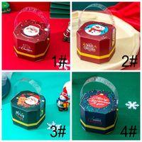التفاف المحمولة مربع مربع سانتا كلوز حلوى صناديق عيد الميلاد الحلويات كعكة هدية حزب الديكور حقيبة الإبداع الرائعة التصميم ccb9298