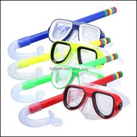 Sets Water Sports & Outdoorschildren Professional Scuba Snorkeling Mask And Snorkels Anti-Fog Glasses Diving Goggles Swimming Easy Breath Tu