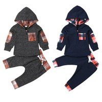 Clothing Sets 2pcs Clothes Set Baby Boys Hoodie Warm Long Pants Casual Hoodies Kids Outfits Autumn Born Toddler