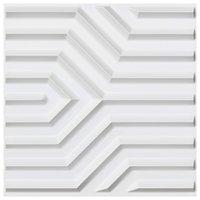 Art3d 50x50cm 3d لوحات الحائط PVC مات الأبيض هندسي ماتي نمط الصوت عازلة ذاتية لاصقة لغرفة المعيشة غرفة المعيشة (حزمة من 12 بلاط)
