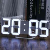 التصميم الحديث 3d led ساعة الحائط الحديثة المنبه الرقمي عرض غرفة المعيشة المنزل مكتب مكتب مكتب الليلة عرض ساعة الحائط مع مربع دي إتش إل