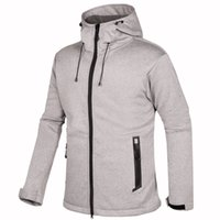 Men Softshell Fleece Jackets Male Warm Sweatshirt Thermal Coat windbreaker sportswear Hooded Casual Jacket 1832 two color
