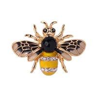 Fabrik direkt svart och gul emalj insekt bee brosch kvinnor och män halsduk klänning lapel pin fahsion smycken