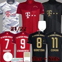 2021 Davies Bayern Player-Version Soccer-Jerseys Sane Lewandowski Kimmich Musiala München Müller Gnabry München Football Hemd 21 22 Herren Kids Kit