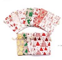 Bronzing Christmas Drawstring Bag Pouch Gift Wrapper 10*14cm Metallic Candy Treat Bags 13*18cm Birthday Festival Party Favor BWB10352