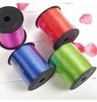 Renkli Balon Şerit Düğün Doğum Günü Partisi Süslemeleri Hediye Sarma Dize 220 M * 5mm / Rulo 15 Renk Seçilebilir HWD5866