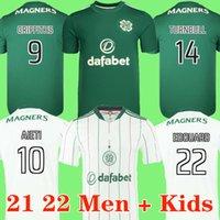 2021 2022 Celtic FC Jerseys de futebol 20 21 Edouard Brown Duffy Christie Turnbull Ajeti Elyounoussi Forrest Camisa de futebol Homens Kit uniforme