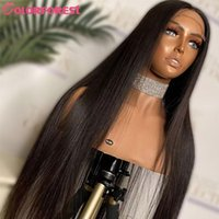 Lace Wigs Remy Malaysian Straight Hair Front Pre Plucked 100% Closure Wig Human 13x6x1 T Part Black Women
