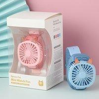 LED Gadget Watch fan USB handheld wristband electric fans cartoon children's gift toys