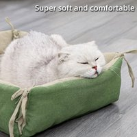 Cat Beds & Furniture Pet Mattress Bandage Natural Style Cute Litter Washable Mat Comfortable Bed Easy To Clean Stock Supplies