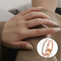 Classic Design Luxury Style Rose Gold Plated Micro Pave Diamond Ring Engagement Rings Jewelry Size 6 7 8 9