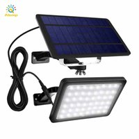 Luz solar 48 LED 800lm 5500mAh Sun lâmpada interior lâmpada interior auto crepúsculo para iluminação de iluminação Luzes divididas ajustáveis para casa de jardim
