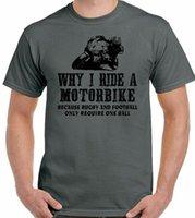 Camiseta del ciclista por qué monto un hombre de motocicleta Divertida motocicleta Yamaha Kawasaki