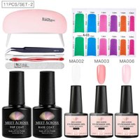 ACROSS Nail Extension Poly Gel Set With UV LED Lamp Form Quick Dry Builder For Manicure Finger Kit1
