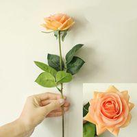 ترطيب الورود الاصطناعي زهرة diy الورود العروس باقة زهرة وهمية للزينة الزفاف حزب الديكور المنزل الديكور عيد الحب 1298 v2