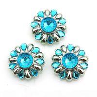 Yeni Moda Noosa 18mm Yapış Düğmeleri Charms Mavi Plastik Kristal Zencefil Klipsler Değiştirilebilir DIY Takı Aksesuarları NKC0052