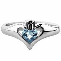 Crown Creeped Creative Creative Site Inlaid Blue Zircon Rings для женщин Wild Wedding Party Party Pired