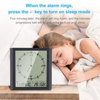 Wall Clocks Alarm Clock Digital With Function Humidity Temperature Date Week Display Sleepiness Table Electric