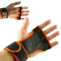 손목은 운동 무게 리프팅을위한 조정 가능한 브레이커 훈련을위한 쿠 조명 핑거리스 장갑을 지원합니다.