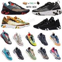 2021 reagir elemento de visão 87 55 homens mulheres correndo sapatos cimeira branco esquemático preto art3mis honeycomb formadores de antracite esportes sapatilhas