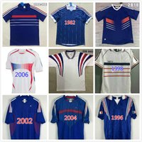 Francescoli Henry Zidane Soccer Jersey Retro Maillot de Foot 1982 1984 1996 1998 2000 2002 2004 2006 2010 Camisa de fútbol a casa