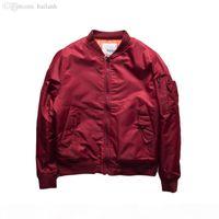 Hip Hop Pilot Jacket Solid Color Big Yards Baseball Uniform Jacket Couple Varsity College Bomber Jacket Men