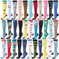 Men's Socks Compression Stocking Animal Running Sport Varicose Veins Blood Circulation Pressure Edema Drop Shopping
