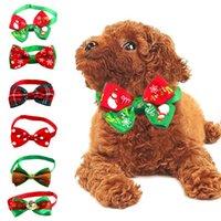 Chien Vêtements Christmas Collier Collier Collier De Vacances Pet Bow Cravate Réglable Col Sangle De toilettage Accessoires Chiot Collier Fournitures