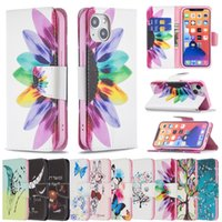 Double-sided Patterns Wallel Flip PU Leather Protector Phone Cases For iPhone 13 12 Mini 11 Pro XS Max XR X 7 8 6 6S Plus SE Wallet Case+Stand Holder