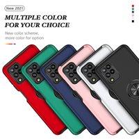 Capas telefônicas de armadura robusta à prova de choque para Samsung Galaxy A10s A20 A3S A30 A50 A50 A11 A21S A21S A21S A11 A51 A71 4G Bracket Ring Capa traseira