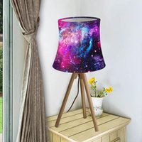 Lampe Couvre Shades Galaxy Space Starfield Imprimer Shade Simple Nordic Style Tissu Lumière pour la table murale Décor à la maison