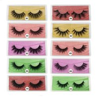 EPACK 3D Mink Eyelash Series 10 Stili 5 Colore Falso Eye Lash Natural Spessa Fase Eyelashes Eyelashes Trucco Prolunga