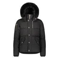 무스 3 분기 다운 재킷 겨울 모피 후드 캐주얼 코트 야외 두꺼운 파카를 영국 캐나다 네클 클로즈 Doudoune