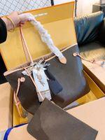 Top Qualität Frauen Umhängetasche Klassische Modedesigner Große Echtes Leder Handtasche Original Alte Blume Übergroße Tragetaschen Großhandel