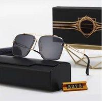Diseñador polarizerd gafas de sol para hombre de cristal espejo gril lense vintage gafas de sol accesorios para gafas para mujer con caja 2273 #