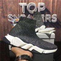 2021 Высочайшее Качество Мужчины Женщины Носки Повседневные Обувь Пары Скорости Кроссовки Черный Красный Тройной S Мода Плоские Носки Ботинки Скорость Кроссовки Бегун Тренеры