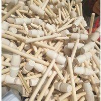 Mini Ahşap Çekiç Ahşap Deniz Ürünleri Istakoz Yengeç Kabuk Deri El Sanatları Takı El Sanatları Dollhouse Oyun Evi Supplie 508 V2