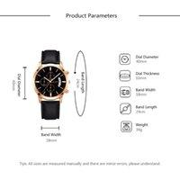 Armbanduhren Marke Explosionsmodelle Herrenkalender Uhr Kreative Dekoration Kleine Drei Augen Mode Gürtel Leuchtende Zeiger Uhr