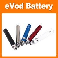 Evod Elektronik Sigara Piller Düğmesi Basınçlı Pil 650mAh / 900mAh / 1600 MAH Ön Isıtmalı VV Değişken Gerilim Vape Kalem Kutusu Mod Kiti DHL