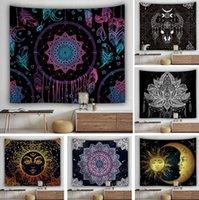 Mandala tapiz blanco negro sol y luna pared tapices colgantes de toalla de playa toalla de yoga mata decoración casera manta